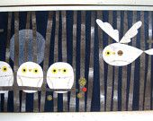 Midnight Owl Family by Kate Endle