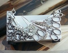 HairStylist Business Card Holder/Scissors And by TheBohemianGypsy, $26.00