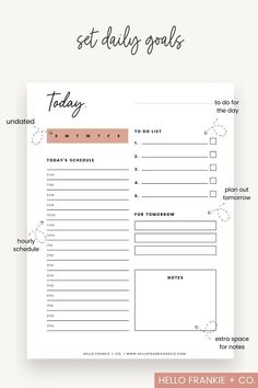Daily Routine Planner, To Do Planner, Daily Planner Pages, Study Planner, Free Planner, Weekly Planner, Binder Planner, Free Daily Planner Printables, Daily Planners