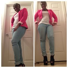 Blazer: JC PenneyTop: JC PenneyJeans: Body Central Wedges: It's Fashions