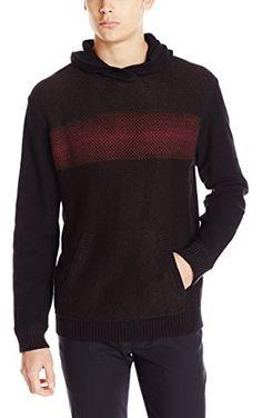 Calvin Klein Jeans Men's Electric Stripe Hoodie Sweater, Bordeaux, Large ❤ Calvin Klein Jeans Men's Collection
