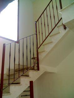 Detalle de barandilla escaleras pasamanos y barandillas - Barandillas de hierro ...