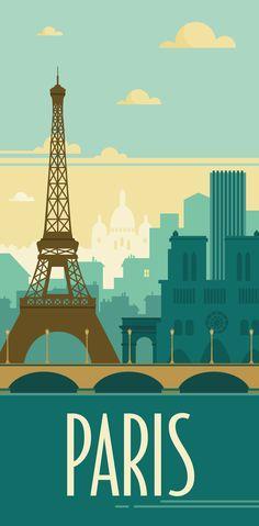 Paris rétro places i must go! :) paris illustration, paris p Illustration Parisienne, Abstract Illustration, Vintage Illustration, Travel Illustration, Graphic Illustration, Paris Poster, Poster City, Poster Poster, Plakat Design