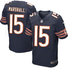 Men's Nike Chicago Bears #15 Brandon Marshall Limited Team Color Blue Jersey$69.99