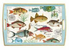Michel Design Works Holz-Tablett Tropical Fish