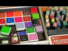 How To Store It: Ink Pads, Embossing Powder, Flocking and Reinkers! | Thefrugalcrafter's Weblog