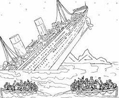 let the kids relive the memories of the gigantic and magnificent british ship titanic which sunk in the north atlantic ocean in 1912 hit by an iceberg - Dessin Titanic
