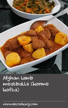 """Afghan lamb meatballs (korme kofta) 