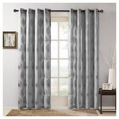 Caris Sheer Ogee Jacquard Curtain Panel : Target