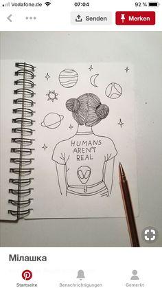 🌝 catalina rodriguez ♡ volgen - A Lápiz De Tareas Creativa ? Girl Drawing Sketches, Art Drawings Sketches Simple, Pencil Art Drawings, Doodle Drawings, Easy Drawings, Doodle Art, Drawing Ideas, Tumblr Drawings, Art Drawings Beautiful