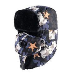 42f5750b8b5 Star Camo Trooper Hat  trapper  trooper  ushanka  winter  hat  fashionpost