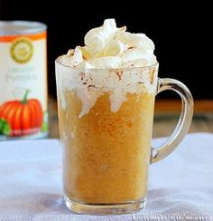 Healthy Makeover: Pumpkin Spice Frappuccinos Copycat By Chocolate Covered Katie Weight Watchers Pumpkin, Weight Watchers Meals, Ww Recipes, Fall Recipes, Clean Recipes, Yummy Drinks, Yummy Food, Fun Drinks, Gastronomia