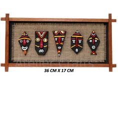 Terracotta African Faces Room Decor By www.ateliercrafts.com New Crafts, Clay Crafts, Diy And Crafts, Arts And Crafts, Worli Painting, Pottery Painting, Clay Wall Art, Clay Art, Art N Craft