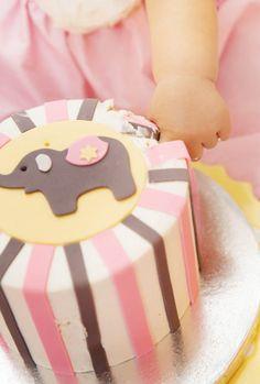 SMASH CAKES   Puple Elephant Cake