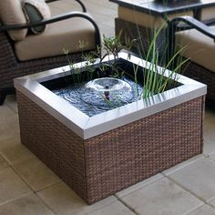 Patio Pond Square Wicker Pond Kit