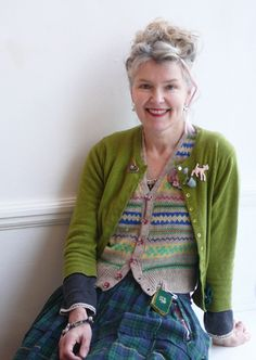 Julie Arkell.... she is always so colourfully dressed and is nice and smiley.