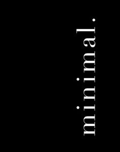 minimal / @bellafosterblog