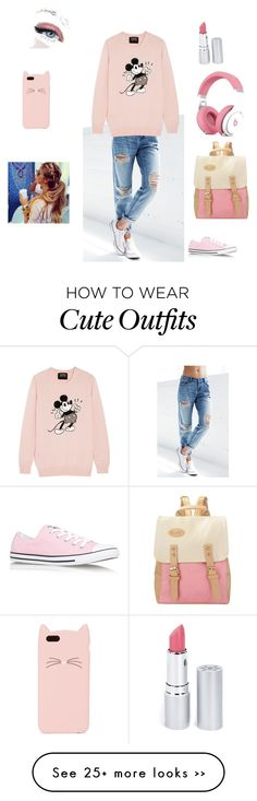 """""""Pink outfit"""" by liyahh000 on Polyvore featuring Billabong, Markus Lupfer, Converse, Kate Spade and HoneyBee Gardens"""