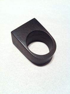 Ebony Wood Ring.  Designed and Made By Leon Litinsky.