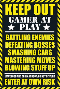 Gaming Keep Out Gamer at Play - Official Poster: