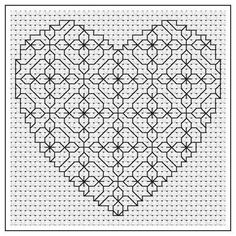 Looking for your next project? You're going to love Primrose Heart Blackwork Chart by designer stitch55.