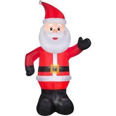 10' Airblown Christmas Inflatable Santa Yard Outdoor Decoration Garden Holidays…