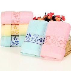 3 colour Genuine Floral Face Hand Towel High Quality 35cm*75cm 100% Cotton Brand Bath Towel Set wholesale New 105g