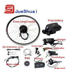 20 700c 28 Wheel 36v 10ah Frog Battery E Bicycle Conversion Kit