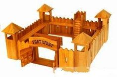 A really well made Wild West Fort to play Cowboys and Indians.    All the castles and forts are made from Alder wood. The surfaces are impregnated with natural oil and then polished, some elements are covered with acrylic paint. These wooden toys are safe for ages 3 years up to 100 years. These safe, ecological and durable toys allow children to develop their creativity, manual skills and are great fun and are CE certified -the acrylic paint is EN-71 certified - Made in EU.  £186