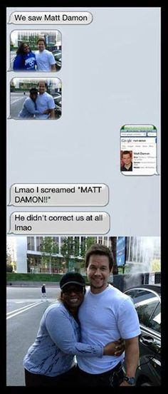 Woman mistakes Mark Wahlberg for Matt Damon, Wahlberg doesn't mind
