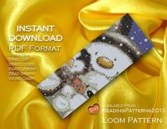 Loom Pattern Bracelet Cuff Beading Miyuki Delica Size 11 Beads