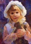 Cookies In Her Pocket, LDS Pioneer Fine Art by Julie Rogers