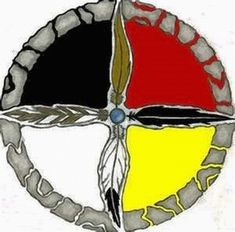 "[Cross within a circle or the Medicine Wheel or ""cahun"" symbol of Kahunas or the Four Pillars of God or the four building blocks of the universe or the Four Pillars of Creation of men? Native American Tattoos, Native Tattoos, Native American Symbols, Native American Jewelry, Native American Indians, Native American Medicine Wheel, Mark Tattoo, Native Design, Nativity Crafts"