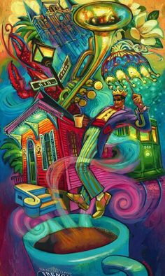 Flavor Of New Orleans By Terrance Osborne Serial Art Louisiana Art Different Art Styles