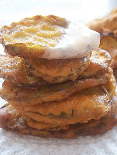 Easy Fried Pickles recipe- how to batter and fry. So tasty, and addictive. Great Superbowl snack!