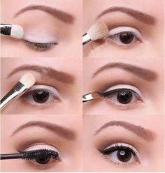 easy-white-eye-makeup via