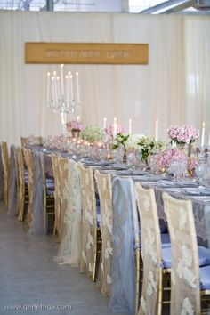 Wildflower Linen Chair Covers - Gene Higa Photography