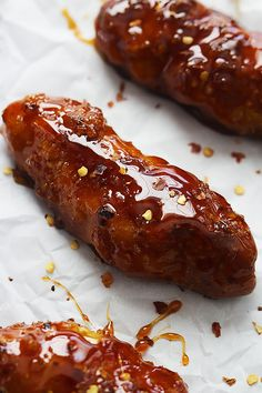 Baked Firecracker Chicken Tenders - so easy with the most amazing sweet and spicy Asian sauce - plus they're so much healthier than the fried version!