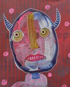 Outsider Art Folk Art Alternative Art Freaky by ArtBeatriceM