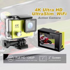 (54.45$) Watch here - aiiit.worlditems.... - Freeshipping H2Rse H2se waterproof action camera WIFI 155D wide angle 1050mA rechargeable lithium battery sports Camera