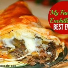 The BEST EVER Enchiladas Hands down, this is the BEST EVER Enchilada recipe. I'm totally serious! Mexican Dishes, Mexican Food Recipes, Beef Recipes, Dinner Recipes, Cooking Recipes, Recipies, Dinner Ideas, Yummy Recipes, Mexican Meat