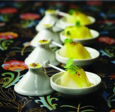 Lenôtre - Mini tajine de lotte cuisinée au citron et pousse de réglisse www.lenotre.com