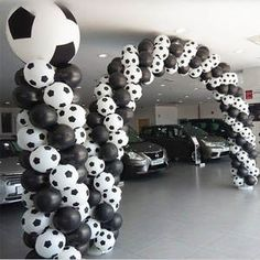 High /lot New style Football Balloons Soccer balloon White color balloon party decorations Celebration. High quality lot New style Football Balloons Soccer balloon White color balloon party decorations Celebration. Soccer Birthday Parties, Football Birthday, Soccer Party, Kids Sports Party, Soccer Wedding, Graduation Parties, Soccer Centerpieces, Banquet Decorations, Balloon Decorations