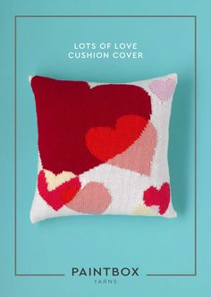 Lots of Love Cushion Cover in Paintbox Yarns Simply DK - Downloadable PDF. Discover more patterns by Paintbox Yarns at LoveKnitting. The world's largest range of knitting supplies - we stock patterns, yarn, needles and books from all of your favourite bra