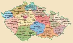 Mapa ČR podle krajů :: PODKOVÁŘI.CZ My Roots, Czech Republic, Growing Up, Homeschool, Childhood, Diagram, Culture, History, Places