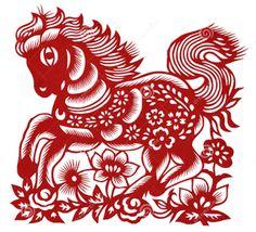 cheval Bois papier découpé