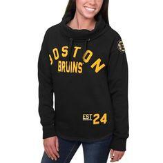 Women s Boston Bruins Black Fleece Funnel Neck Pullover Sweatshirt  Pittsburgh Penguins e950845bc