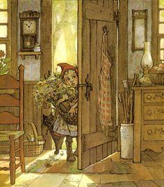 Trina Schart Hyman Red Ridding Hood, Wolf, Classic Fairy Tales, Children's Book Illustration, Book Illustrations, Fairytale Art, Little Red, Vintage Art, Vintage Prints