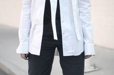 [ Lizzie Lo ]: suffocating http://www.lizzie-lo.com/2015/04/suffocating.html [Alexander Wang shirt  +  Hussein Chalayan x UM top  +  vintage Helmut Lang patch pants  +  Burberry Prorsum creeper sneakers]