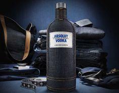Absolut Vodka Loren Cronk Denim Sleeve Limited Edition